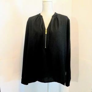 Women's Michael Kors 12 Black 1/4 zipper top